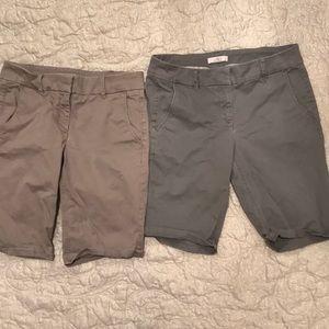 Loft, size 6P, classic Bermuda shorts khaki bundle
